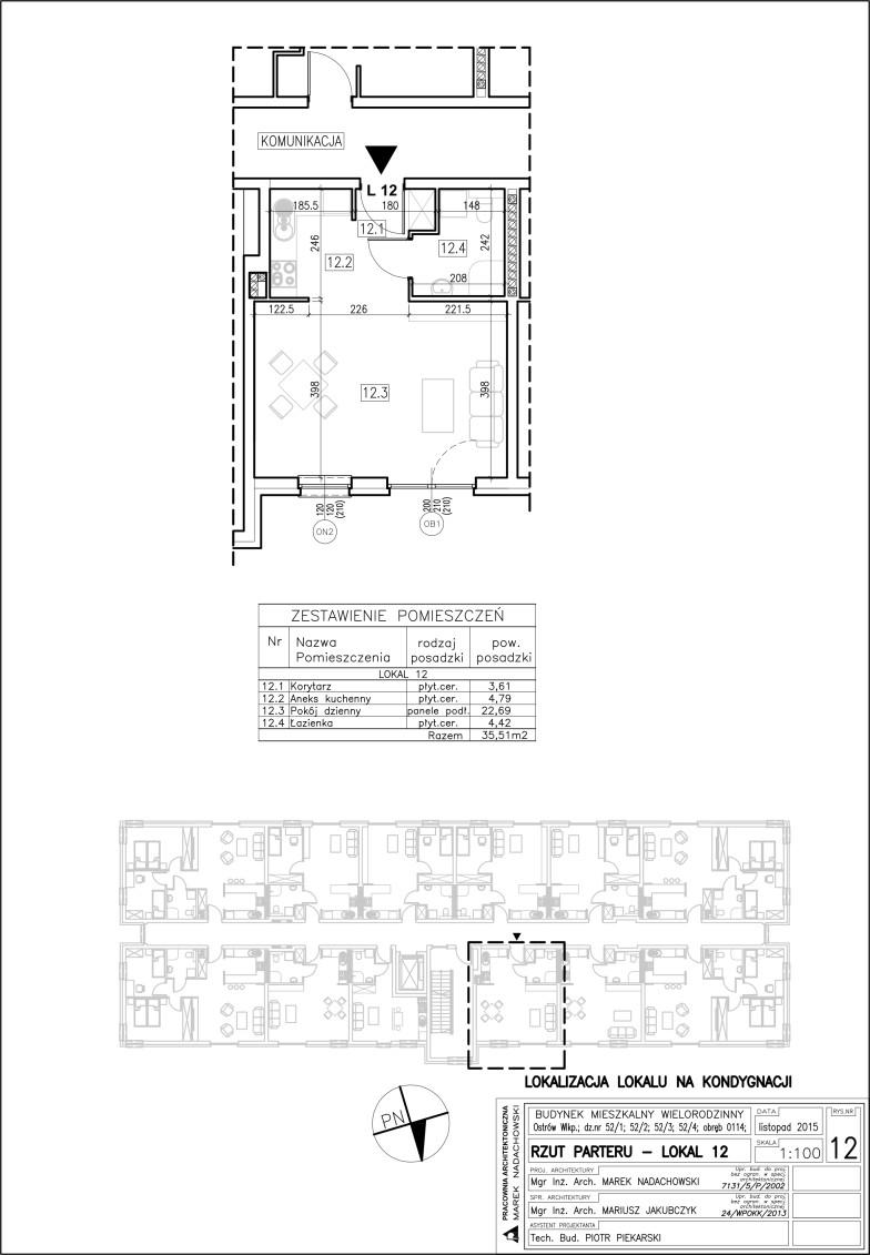 Lokal nr 12 Powierzchnia 35,51 m2