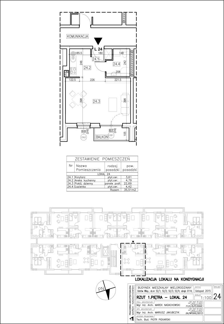 Lokal nr 24 Powierzchnia 35,51 m2