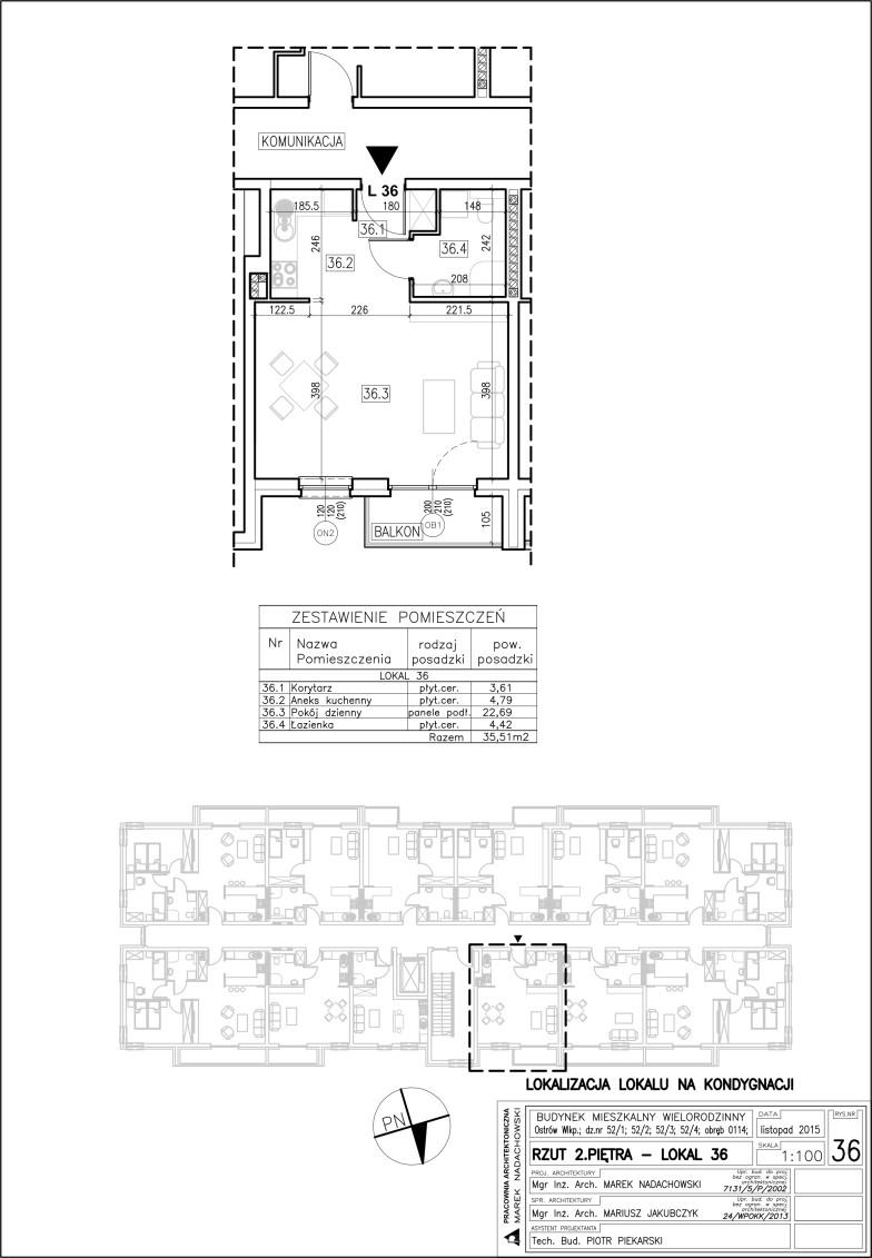 Lokal nr 36 Powierzchnia 35,51 m2