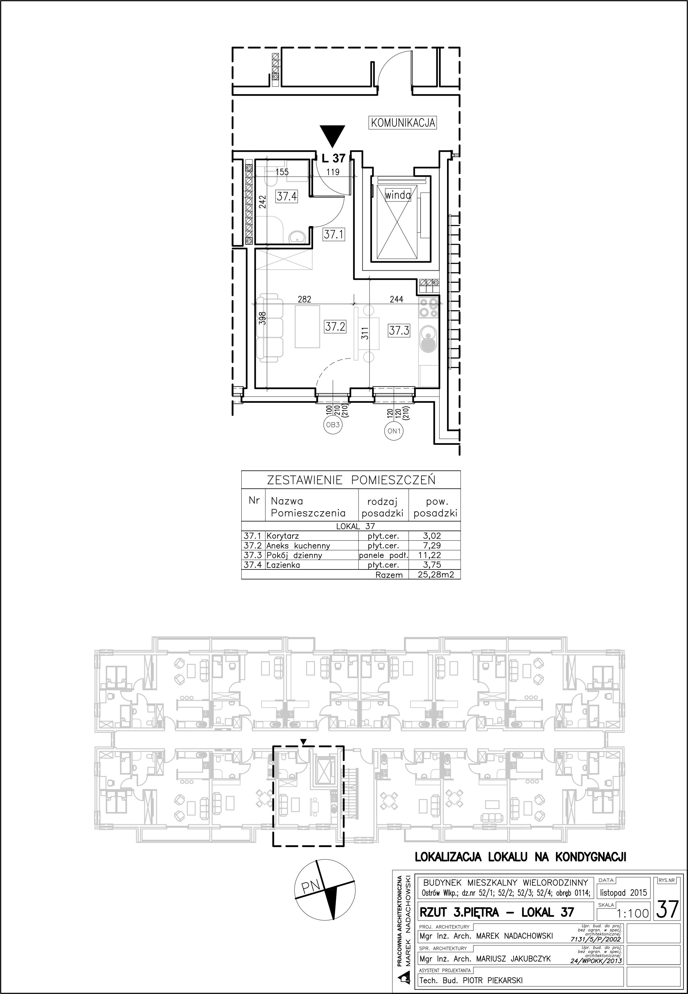 Lokal nr 37 Powierzchnia 25,28 m2