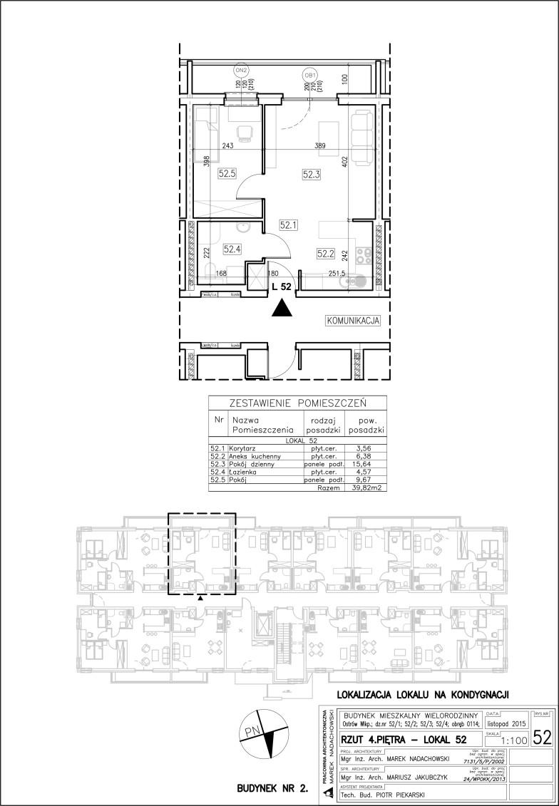 Lokal nr 52 – budynek 2 (IV piętro)