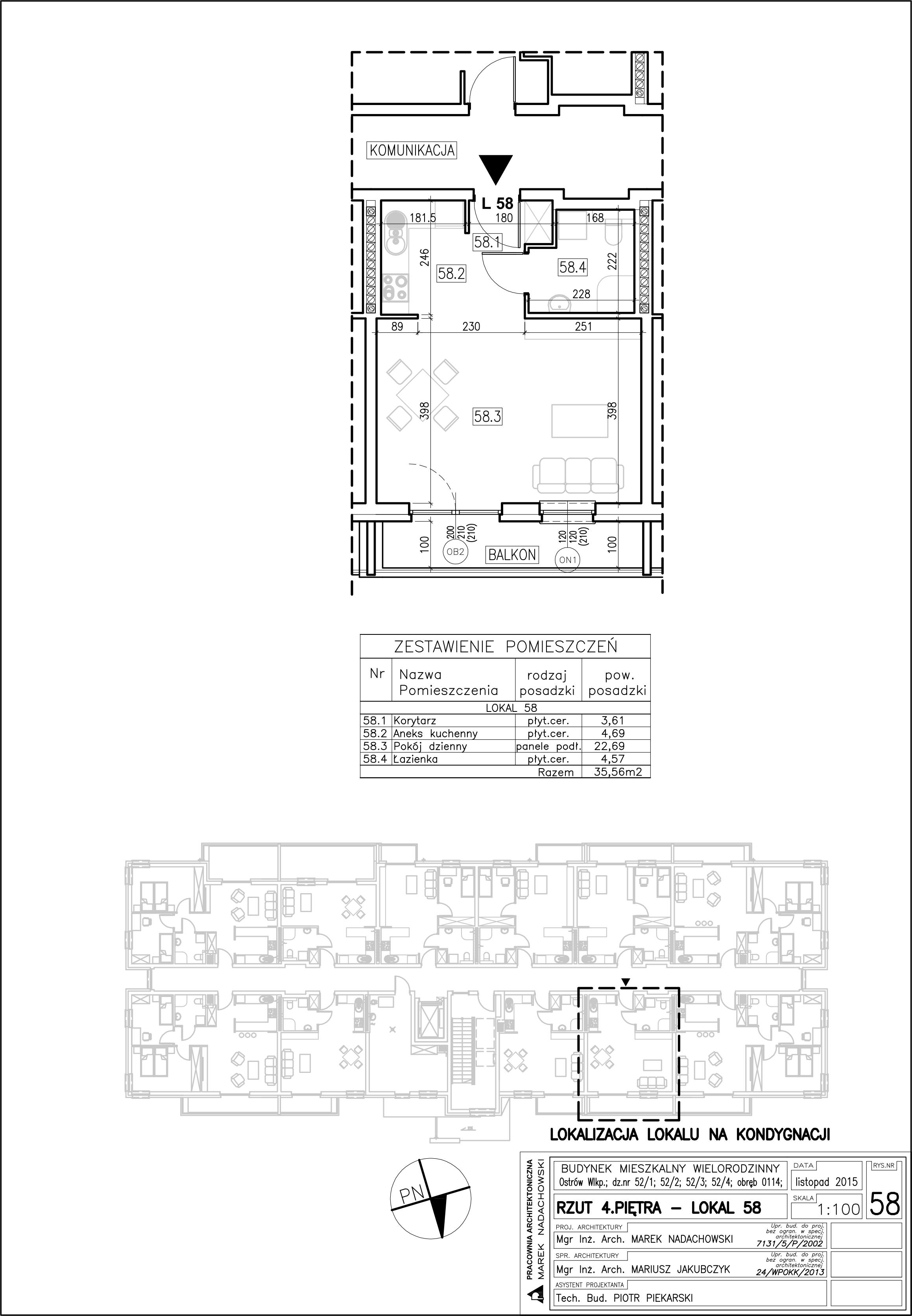 Lokal nr 58 Powierzchnia 35,56 m2