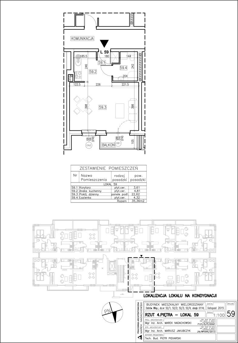 Lokal nr 59 Powierzchnia 35,36 m2