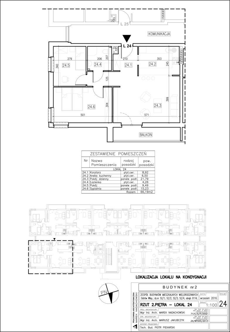 Lokal nr 24 Powierzchnia: 66,19 m2