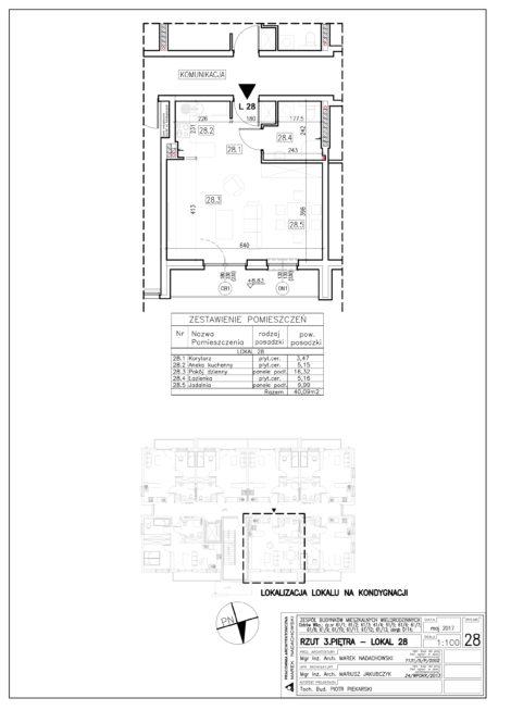 Lokal nr 28 Powierzchnia: 40,09 m2