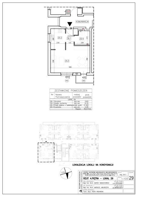 Lokal nr 29 Powierzchnia: 36,57 m2