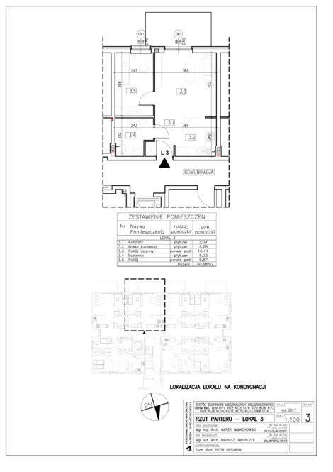 Lokal nr 3 Powierzchnia: 40,68 m2