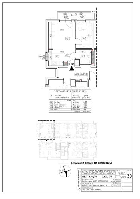 Lokal nr 30 Powierzchnia: 40,83 m2