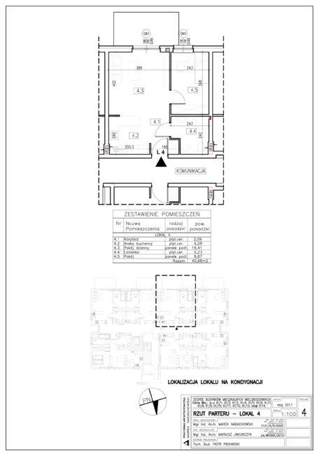 Lokal nr 4 Powierzchnia: 40,68 m2