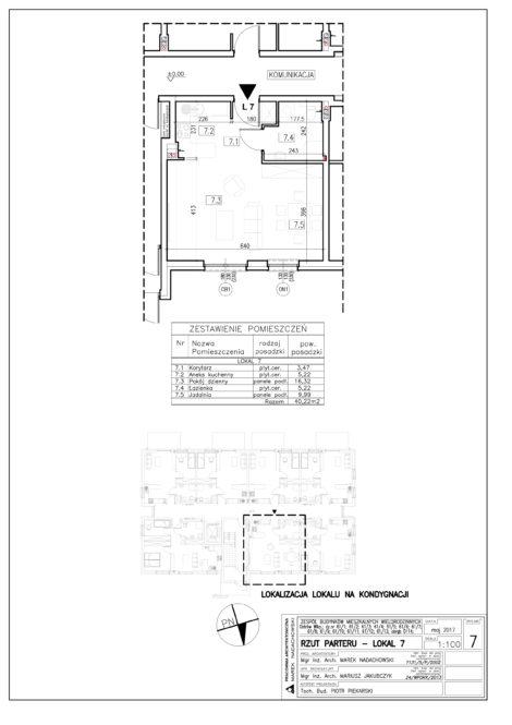Lokal nr 7 Powierzchnia: 40,22 m2
