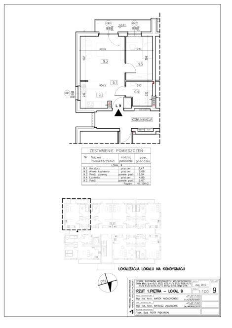 Lokal nr 9 Powierzchnia: 41,19 m2