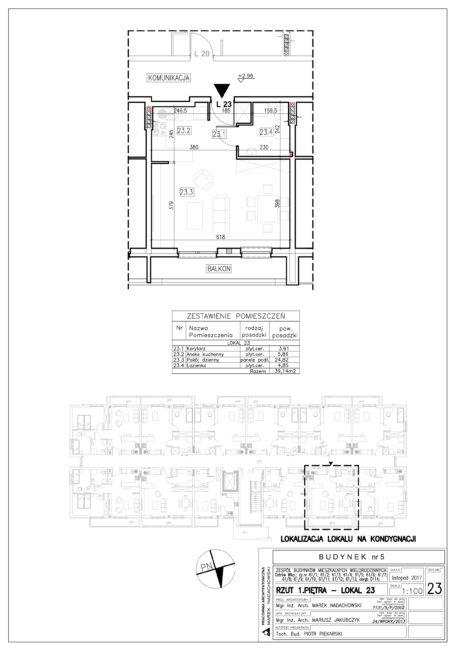 Lokal nr 23 Powierzchnia: 39,14 m2