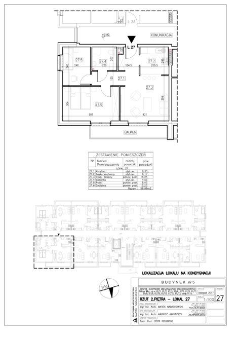 Lokal nr 27 Powierzchnia: 58,96 m2