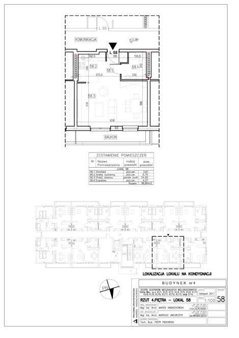 Lokal nr 58 Powierzchnia: 38,80 m2